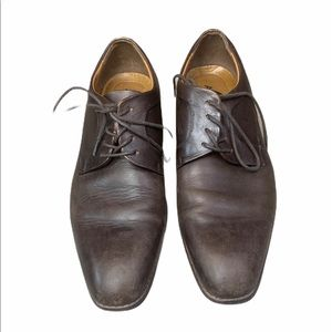 Aldo Brown Leather Laced Casual Dress Shoes Oxford